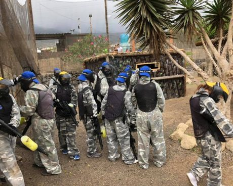 jugadores paintball adulto en tenerife