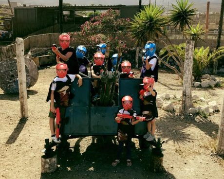 equipo paintball infantil tenerife