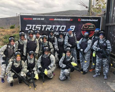 grupo paintball adulto en tenerife