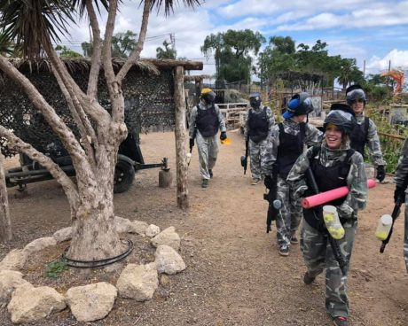jugadores de paintball adulto en tenerife